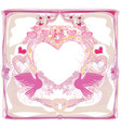 romantic card with love birds vector image