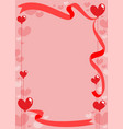 romantic invitation card template vector image vector image
