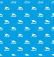 scandinavian ship pattern seamless blue vector image vector image