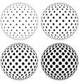 set 3d globe ball dots circles on surface vector image vector image
