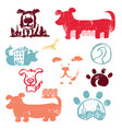 set concept hand drawn icons logo template vector image vector image