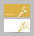 set horizontal banners wheat spikelet on white vector image