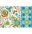 Set of elegance seamless pattern with floral vector image vector image