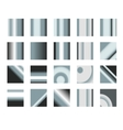 Set of silver gradients Metallic squares vector image vector image