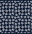 skulls pattern cartoon style for day dead vector image