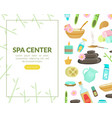 spa center landing page template with space vector image vector image