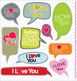 Speech bubbles retro design I love you vector image vector image