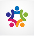 teamwork businessman unity and cooperation vector image