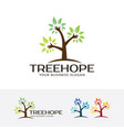 tree hope logo vector image vector image