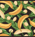 tropical seamless pattern with fresh banana fruits vector image