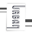 urban typography print vector image vector image