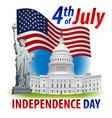 usa independence day celebration vector image