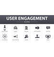 user engagement simple concept icons set contains vector image