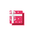 view aerial of gift box present icon vector image vector image