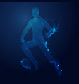 vr footwork vector image