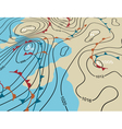 Weather system map vector image vector image