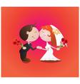Wedding kiss vector image vector image