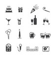year party icon set vector image