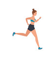 young woman athlete running avatar character