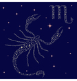 Zodiac sign Scorpio on the starry sky vector image vector image