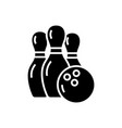 bowling icon black sign on vector image