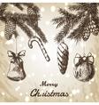 Christmas hand drawn - vector image