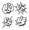 black and white vs letters patches vector image