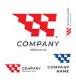 race logo speed flag emblem shape modern simple vector image