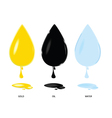 gold oil and water drop color vector image