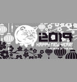 2019 pig symbol of the new year vector image vector image