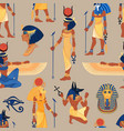 Ancient egypt vintage seamless pattern with