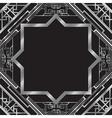 art deco silver vector image vector image
