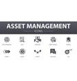 asset management simple concept icons set
