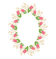 beautiful easter wreath elegant floral frame hand vector image vector image