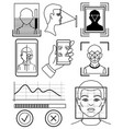biometric identification facial recognition vector image