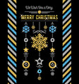 black christmas card with golden and silver vector image vector image
