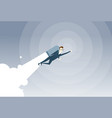 business man with jet pack project successful vector image