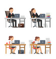 business peoples at work unhappy male and female vector image vector image