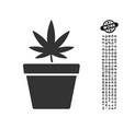 cannabis pot icon with people bonus vector image vector image