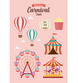 carnival festival collection vector image