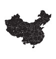 china map with province region and grunge dust vector image