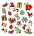 christmas and new year celebration vector image vector image