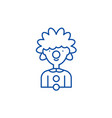 clown line icon concept clown flat symbol vector image vector image