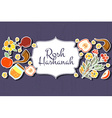 collection of labels and elements for Rosh vector image vector image