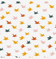 colorful crane birds seamless pattern with birds vector image vector image