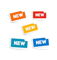 Colorful New Labels Tags Set vector image vector image