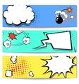 comic speech bubble web header set vector image vector image