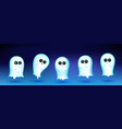 cute ghost character with different emotions vector image
