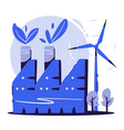 ecological factory concept cartoon vector image