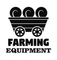 farm transport logo simple style vector image